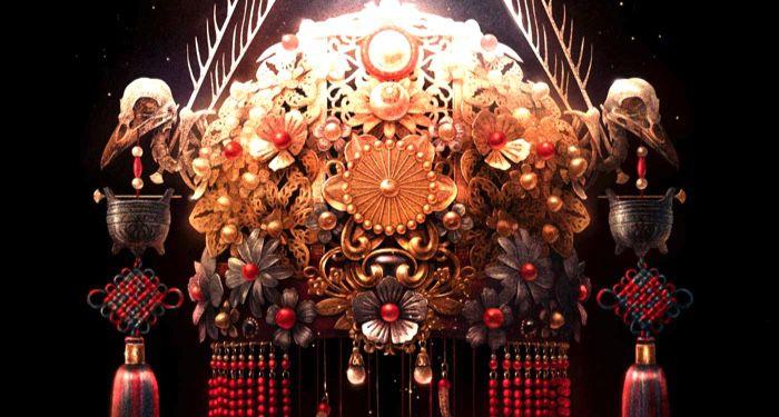 closeup of Veiled Throne book cover