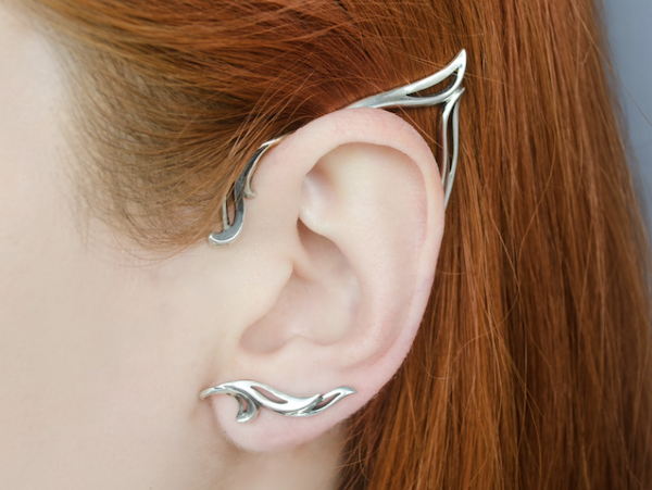 picture of silver elf ear cuffs