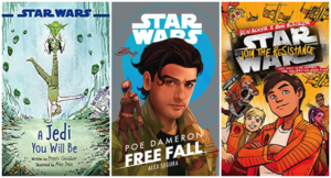 Image of three star wars books for kids