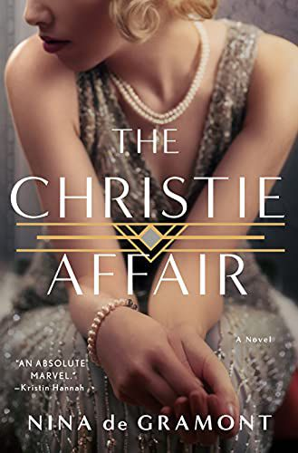 cover of the christie affair, featuring a blonde woman in a silver flapper dress