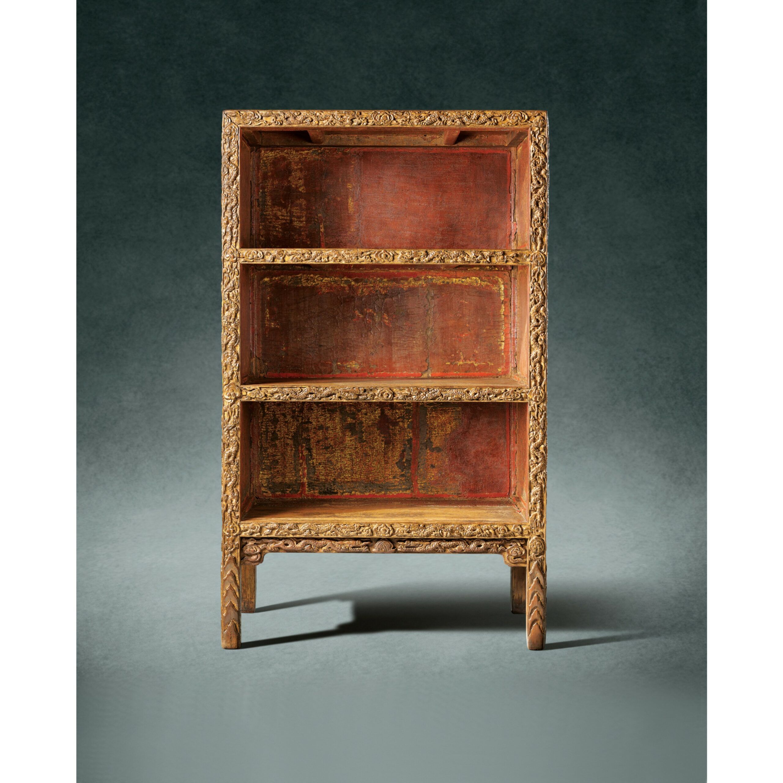 gold lacquer bookcases