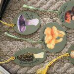 Watercolor mushroom bookmarks