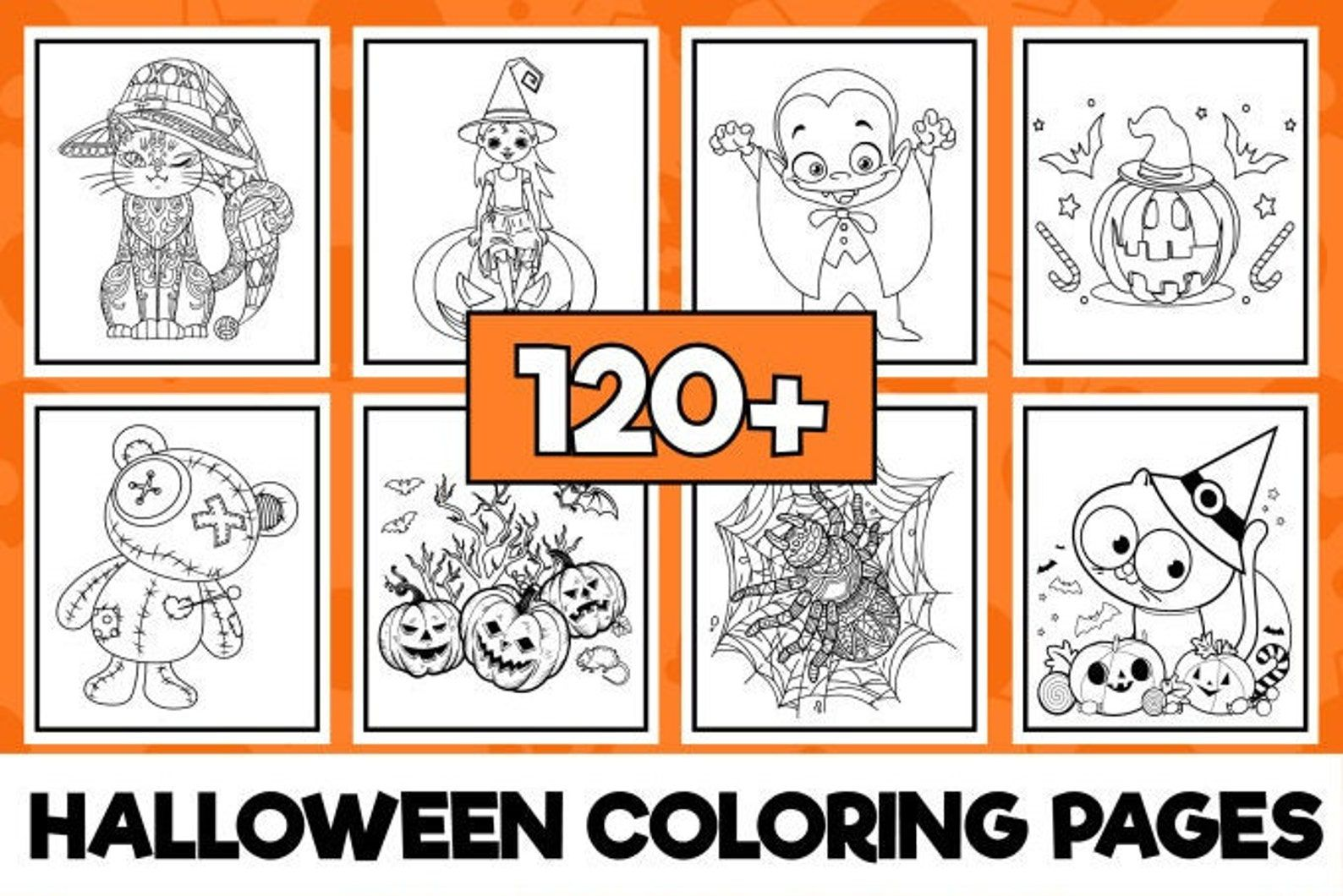 120+ halloween coloring pages
