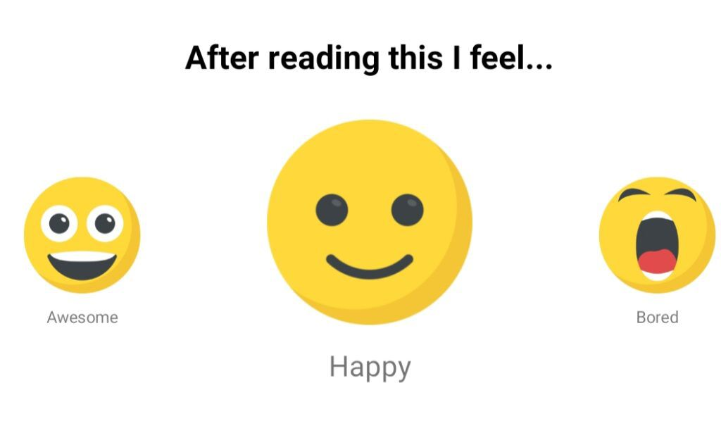 The Basmo feelings tracker lets you choose between awesome, happy, bored, confused, or sad.