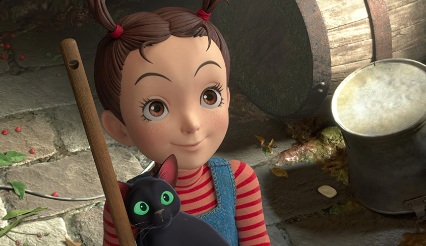 Earwig and the Witch with cat Movie Image