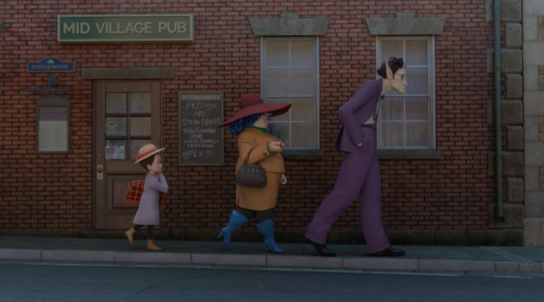 Earwig and the witch with foster family movie still