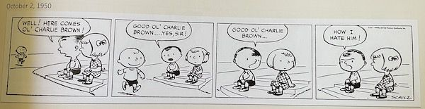 picture of the first Peanuts strip