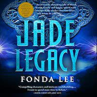 A graphic of the cover of Jade Legacy by Fonda Lee