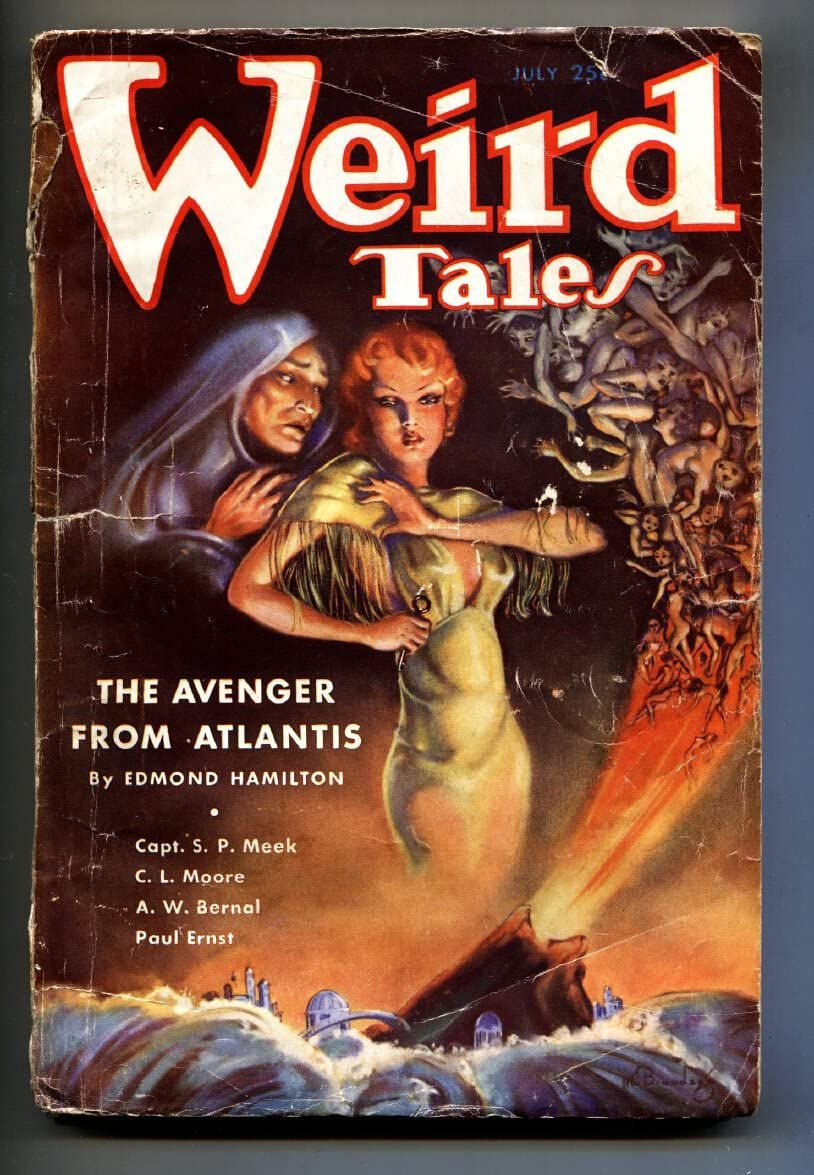 Weird Tales July 1935 Atlantis Brundage Avenger Cover