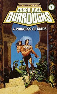 A Princess of Mars by Edgar Rice Burroughs book cover