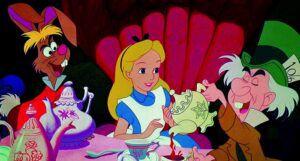 still frame from Disney's Alice in Wonderland
