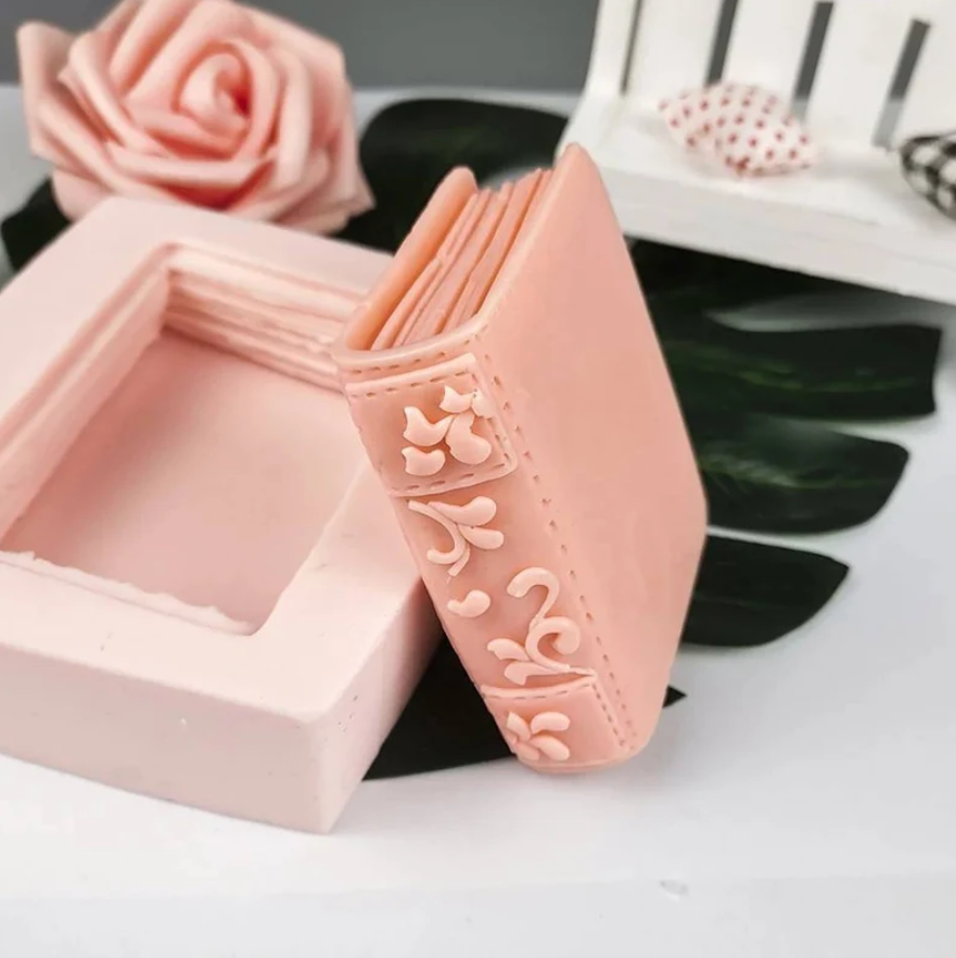 image of a mold and the book soap it creates