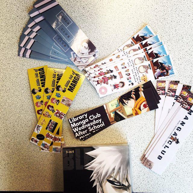 Manga Bookmarks made using Canva