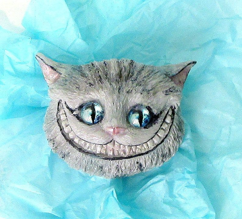 image of a cheshire cat face soap