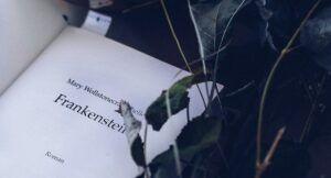 Cropped image of Frankenstein title page