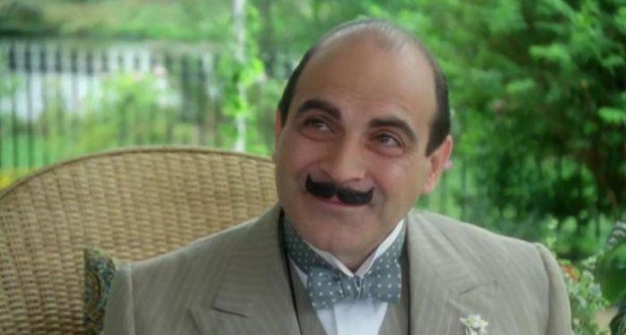 David Suchet as Hercule Poirot in a still frame from Poirot TV adaptation (1989)