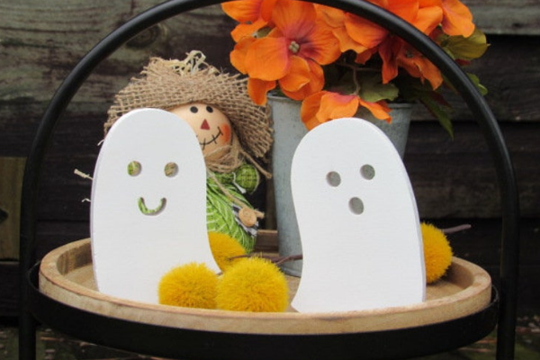 Smiling Ghost Figures