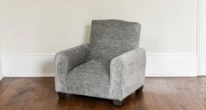 Image of a children's gray reading chair