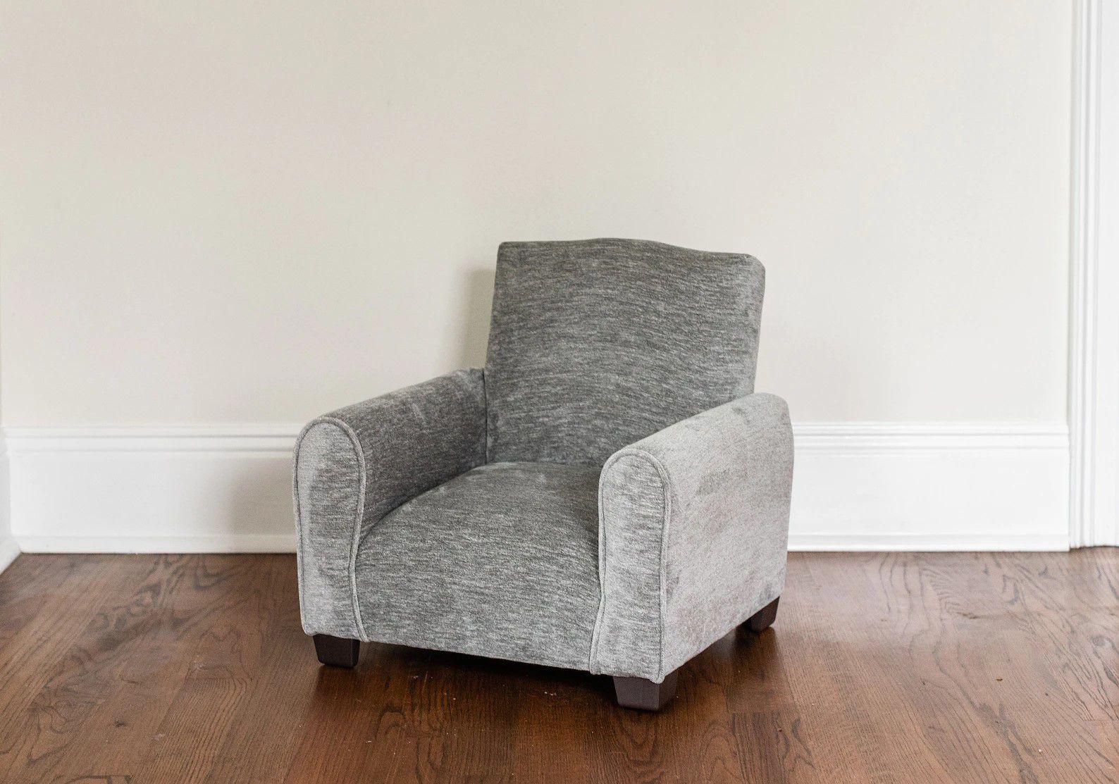 gray kid's armchair