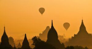 image of hot air balloons in Burma