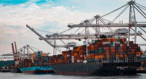 Image of shipping containers on boat
