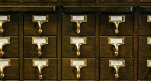 Image of card catalog drawers