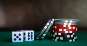 Image of casino chips and dice