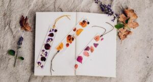 Image of three fall floral bookmarks