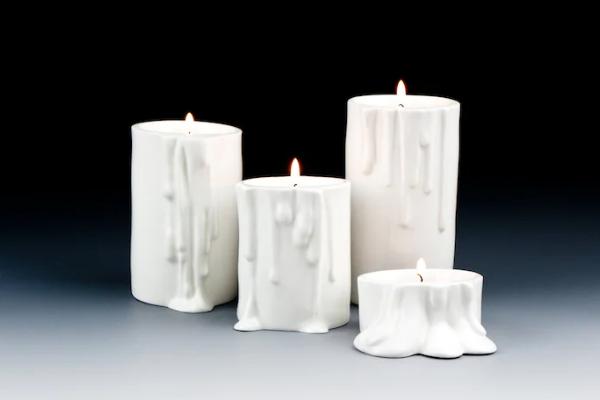 Melting Porcelain Candleholders