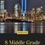 pinterest image for middle grade books about 9/11