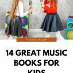 Pinterest image for music books for kids