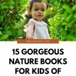 pinterest image for nature books for kids