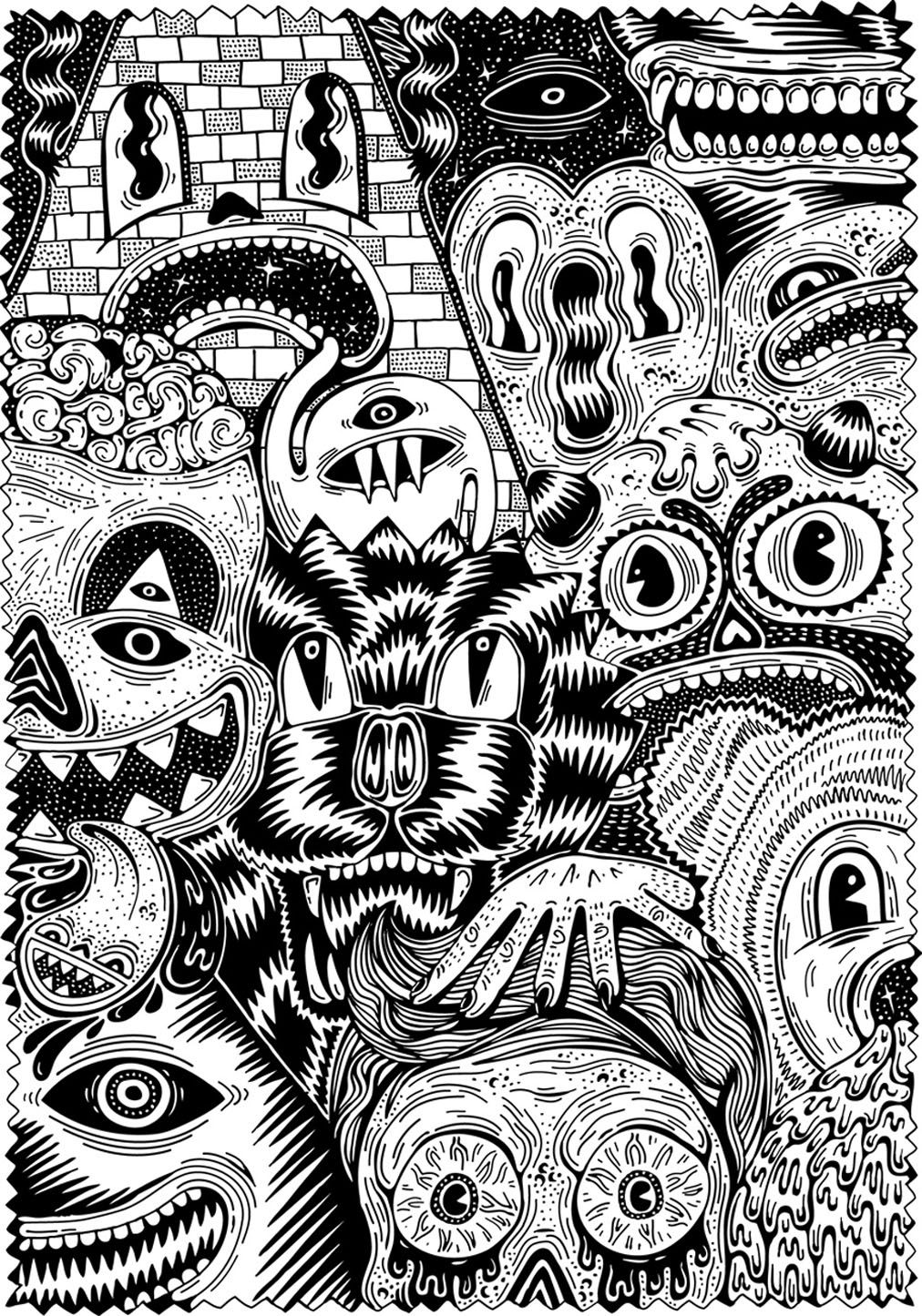 nightmare creatures coloring page
