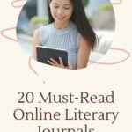 pinterest image for online literary journals