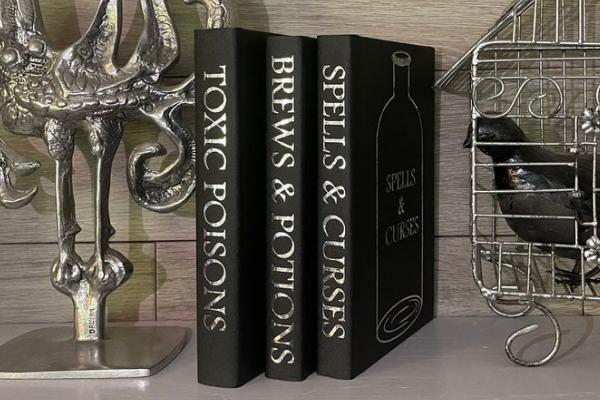 Black Spell Book Spines