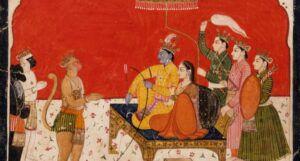 Rama's Court, Folio from The Ramayana