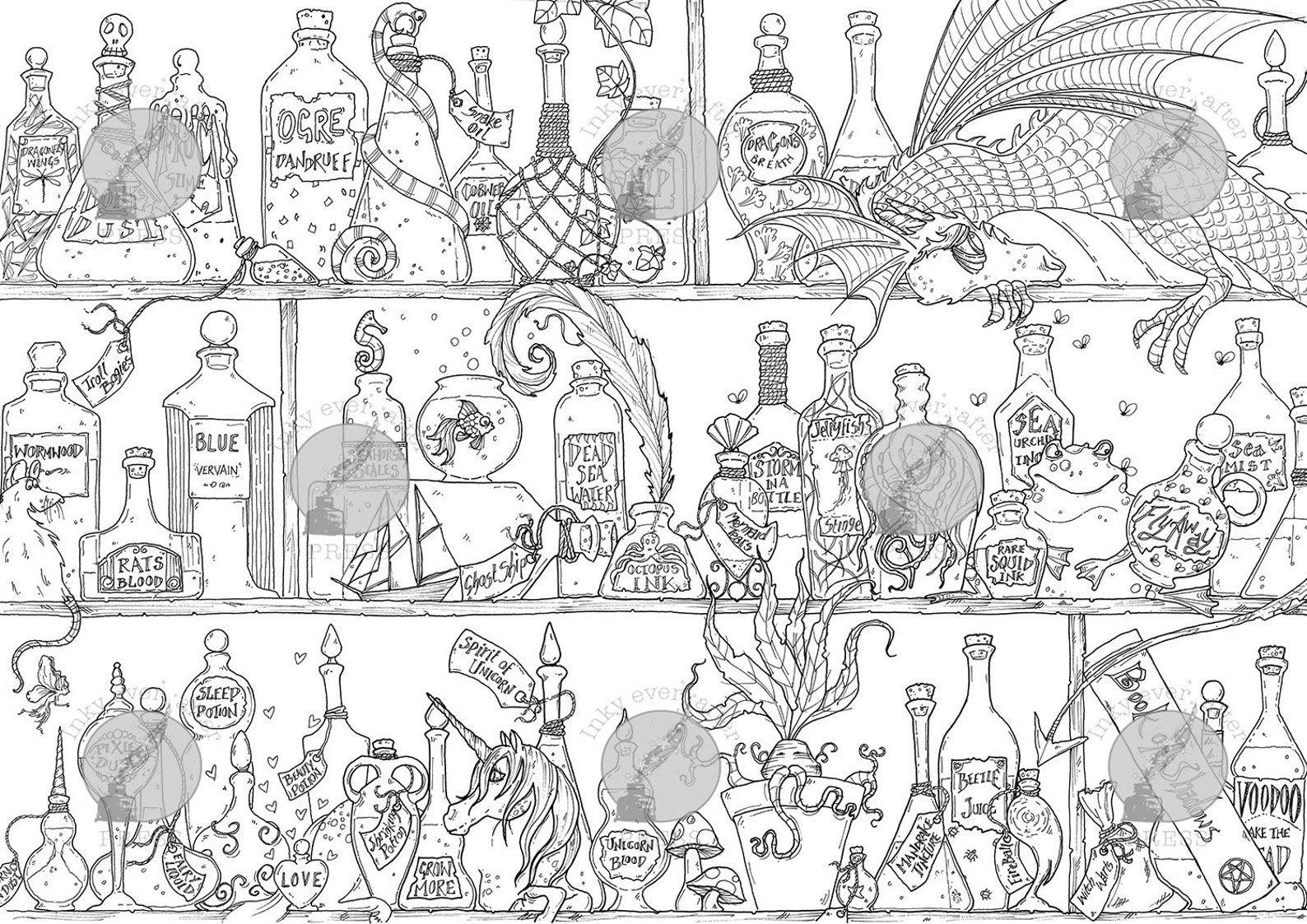 shelfies halloween coloring page
