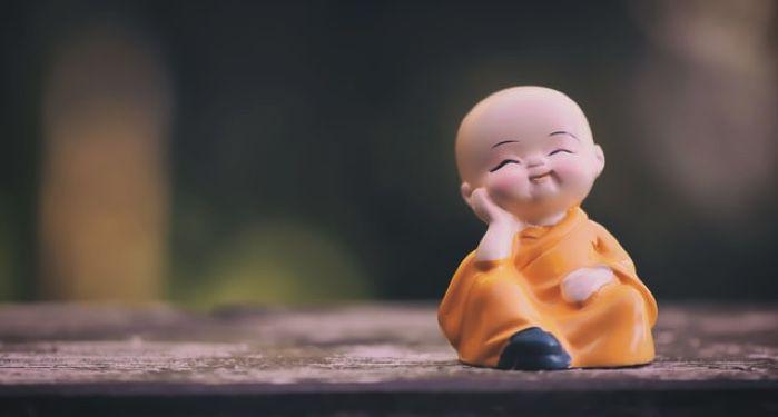 smiling baby buddha figurine