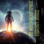 pinterest image for space fantasy books