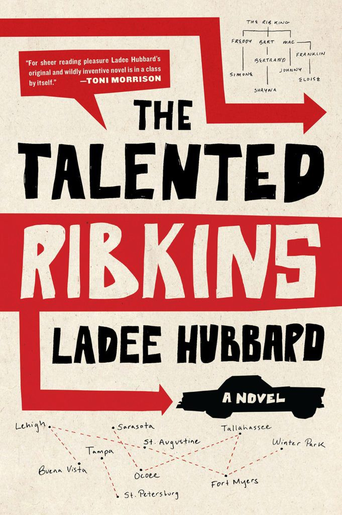 cover of Talented Ribkins: a cartoonish illustration of a car driving across the page with red arrows pointing in different directions