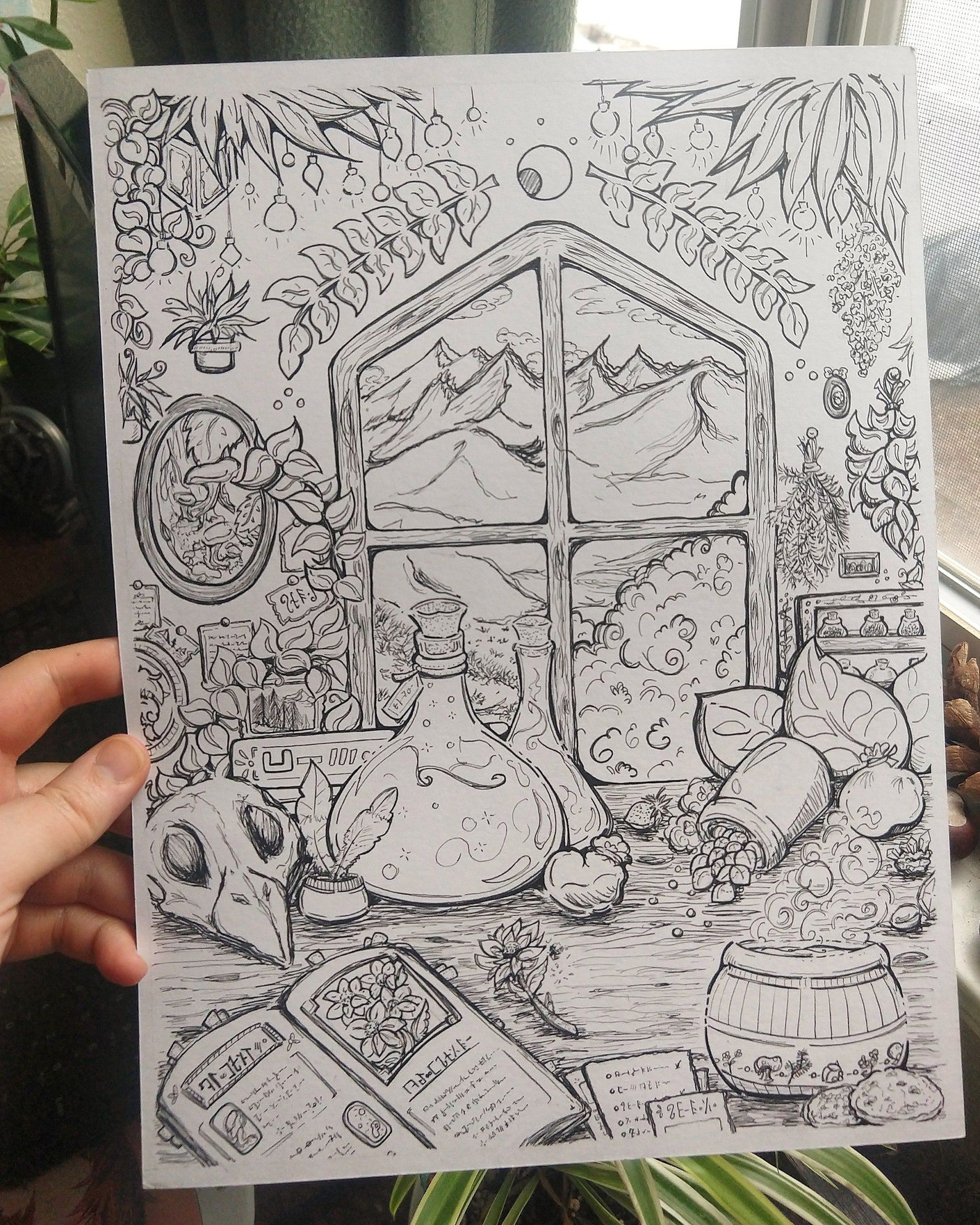 the apothecary halloween coloring page
