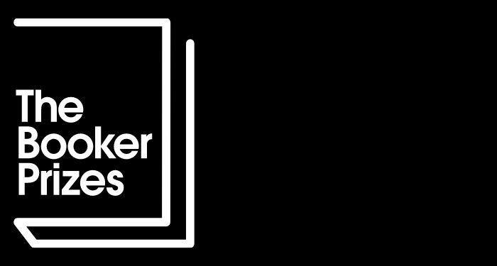 the booker prizes logo on black background