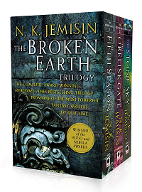 The Broken Earth Trilogy by N.K. Jemisin book cover