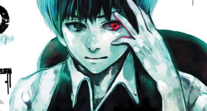 closeup of cover for Tokyo Ghoul horror manga
