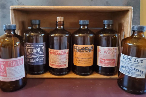 Old Fashioned Apothecary Poison Bottles