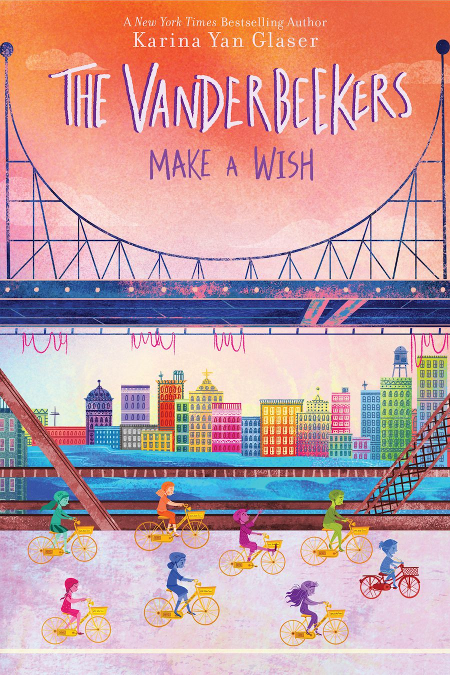 Book cover of The Vanderbeekers Make A Wish by Karina Yan Glaser.