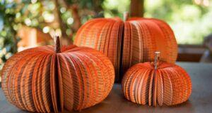 image of pumpkins of books