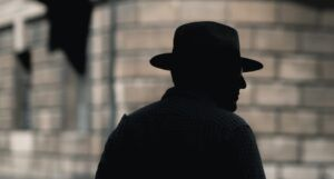 silhouette of a detective