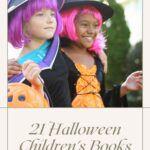 pinterest image for halloween children's books