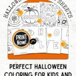 pinterest image for halloween coloring sheets